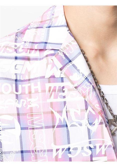 Camicia a quadri con stampa logo MSGM | Camicia | ME02X21700512