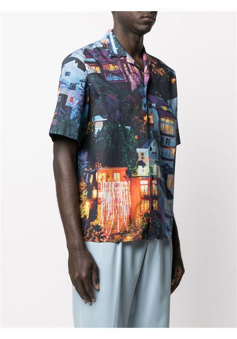 Camicia con stampa paesaggio MSGM | Camicia | ME1321701803