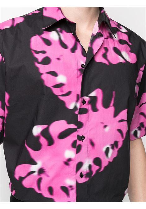 Camicia con stampa fantasia con foglie MSGM | Camicia | ME2021701112