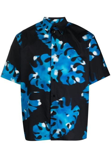 Camicia con stampa fantasia con foglie MSGM | Camicia | ME2021701185