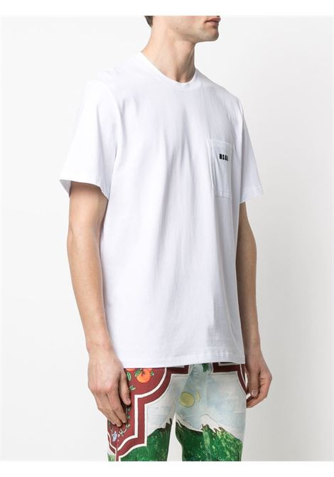 T-shirt con tasca con MSGM | T-shirt | MM7321709801
