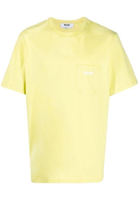 T-shirt con tasca sul petto con logo applicato MSGM | T-shirt | MM7321709807