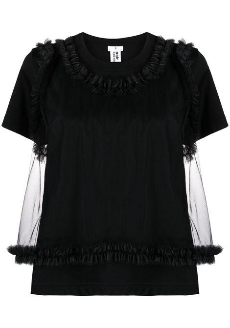 T-shirt con tulle e  ruches NOIR KEI NINOMIYA | T-shirt | 3G-T003-0511