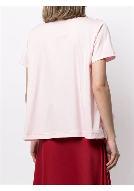 T-shirt con tulle e ruches NOIR KEI NINOMIYA | T-shirt | 3G-T003-0512