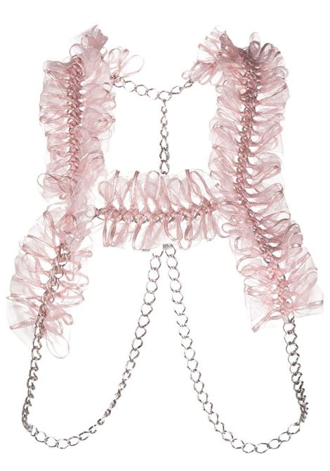 Harness con fiocchi e catene NOIR KEI NINOMIYA | Top | 3G-V006-0512