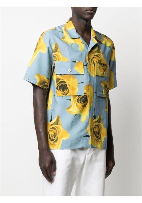camicia manica corta con stampa rose gialle PAUL SMITH | Camicia | M1R-759U-F0143312