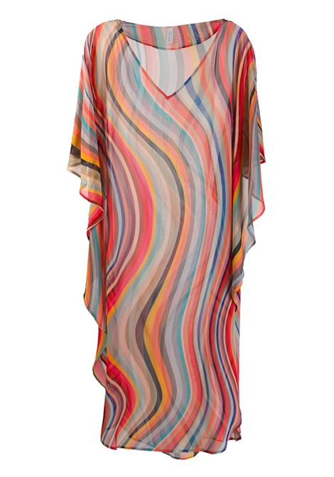 Caftano in seta, a righe multicolor PAUL SMITH | Caftano | W1A-662E-AU24090