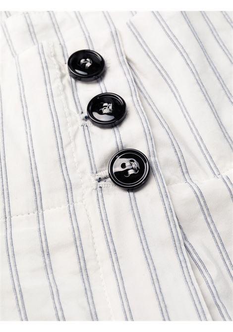 Pantaloni a vita alta con stampa a righe PHILOSOPHY di LORENZO SERAFINI | Pantalone | A031621271002