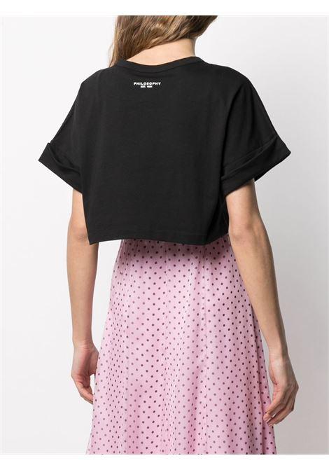T-shirt crop con logo PHILOSOPHY di LORENZO SERAFINI | T-shirt | A0701746555