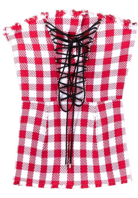 corsetto con stringhe in contrasto PHILOSOPHY di LORENZO SERAFINI | Top | A080721341112