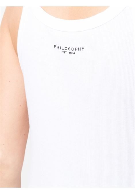 Canotta a coste con logo PHILOSOPHY di LORENZO SERAFINI | Canotta | A08087842