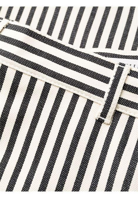 Pantaloni crop a vita alta con stampa a righe PHILOSOPHY di LORENZO SERAFINI | Pantalone | V031521291003