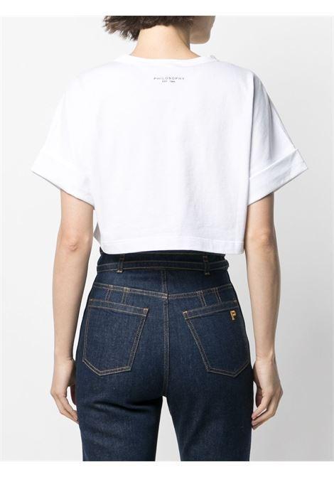 T-shirt crop con logo PHILOSOPHY di LORENZO SERAFINI | T-shirt | V07017462