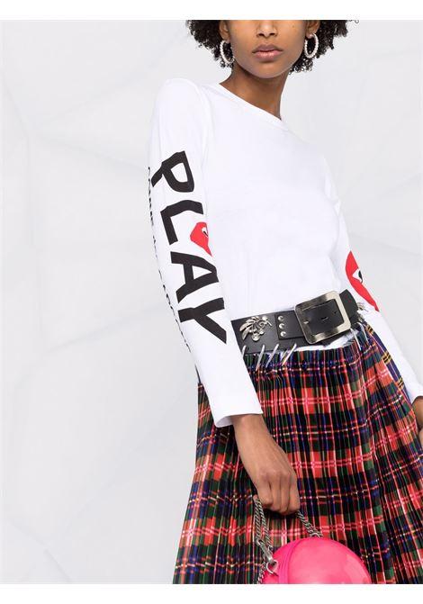 t-shirt manica lunga con logo PLAY COMME DES GARCONS | T-shirt | P1T2571