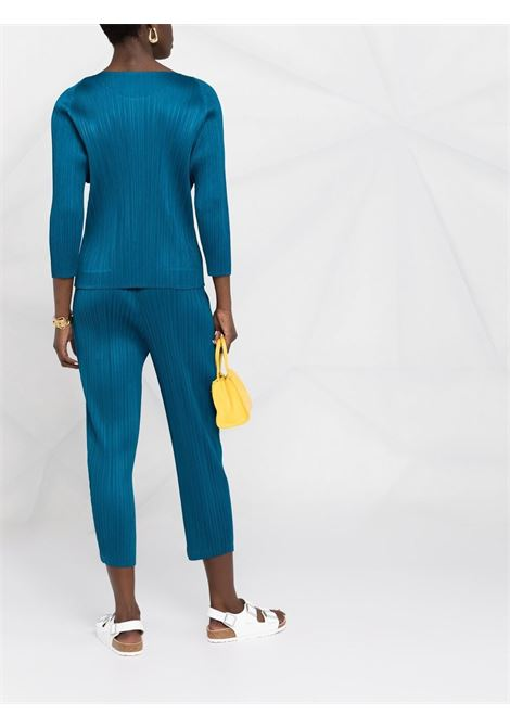 Pantaloni crop  plissettati con vita elasticizzata PLEATS PLEASE | Pantalone | PP16JF14476
