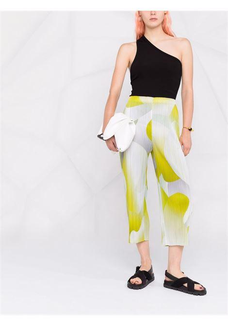 pantalone con elastico in vita in tessuto plissé PLEATS PLEASE | Pantalone | PP16JF75452