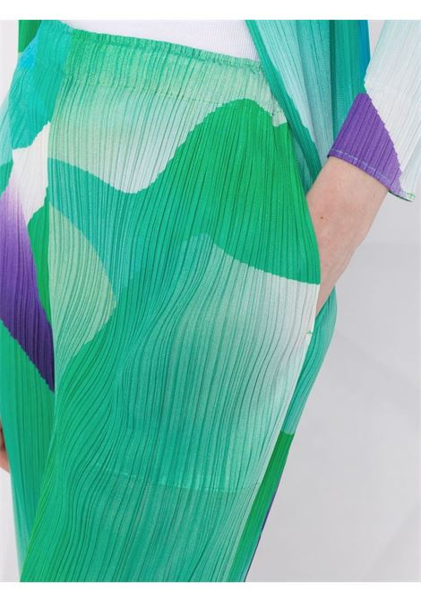 pantalone con elastico in vita in tessuto plissé PLEATS PLEASE | Pantalone | PP16JF75462