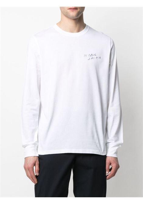 t-shirt manica lunga con logo e stampa PS PAUL SMITH | T-shirt | M2R-828R-FP250901