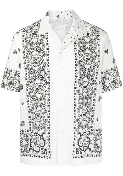 Camicia mezza manica con stampa fantasia SACAI | Camicia | 21-02471M101