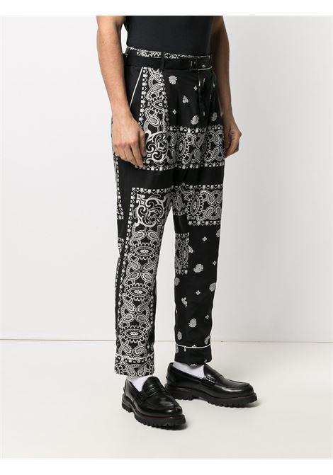 Pantaloni con stampa paisley SACAI | Pantalone | 21-02472M001