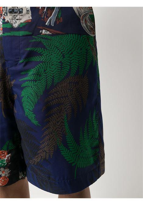 Shorts con stampa e cintura SACAI | Shorts | 21-02473M413