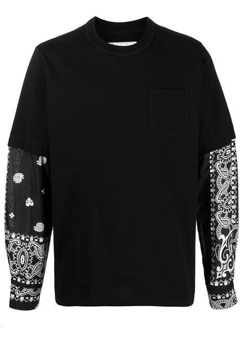 T-shirt con maniche a camicia SACAI | T-shirt | 21-02477M003