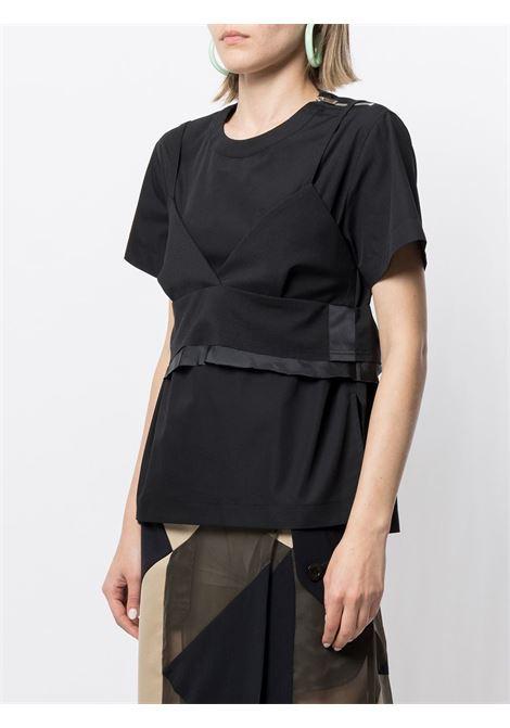 T-shirt con top SACAI | Maglia | 21-05397001
