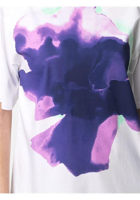 T-shirt elasticizzata con stampa multicolor SPORTMAX | T-shirt | AEROSO003