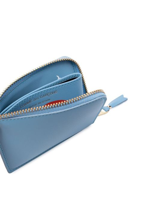 Portafoglio con stampa e zip WALLETS COMME DES GARCONS | Portafogli | SA3100REBLUE