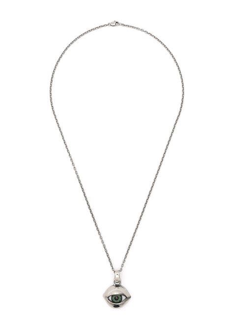 Collana unisex con pendente a forma di occhio.  YOHJI YAMAMOTO | Collana | HD-A07-9671