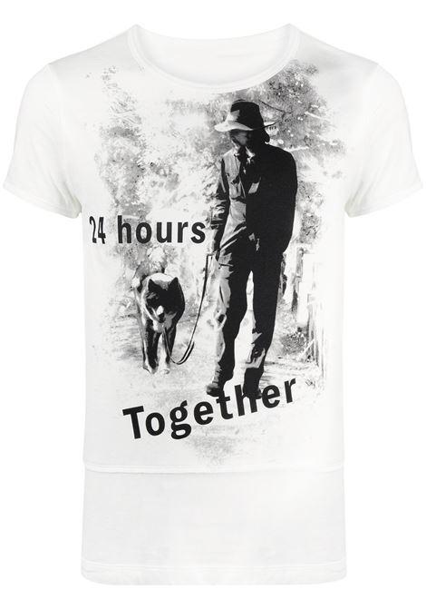 T shirt con Yohji  Yamamoto e cane YOHJI YAMAMOTO   T-shirt   HD-T64-0991