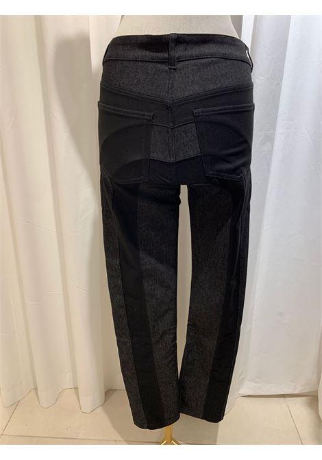 pantalone 5 tasche in denim e tessuto WEINSANTO | Pantalone | 21SJE001BLACK