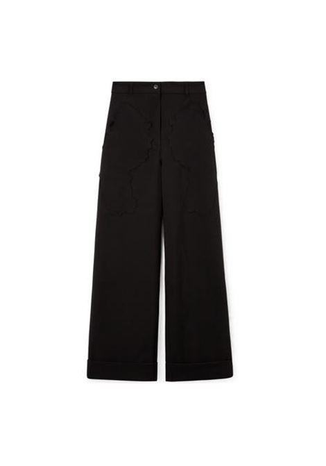 pantalone vita alta a gamba larga WEINSANTO | Pantalone | 21SPA002BLACK MAT