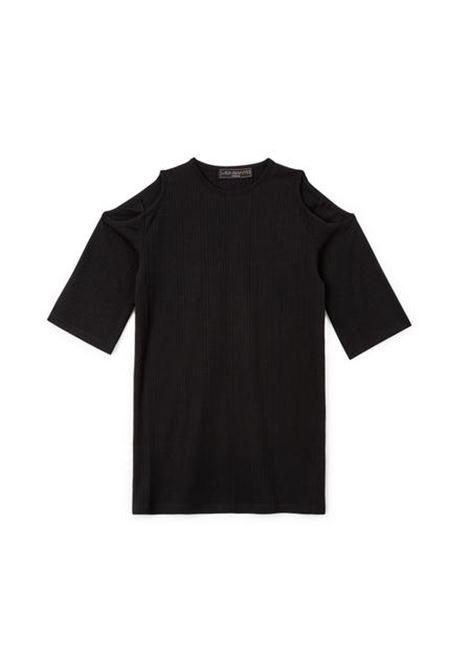 t shirt manica corta con apertura su spalle WEINSANTO | T-shirt | 21ST001BSBLACK SHINY