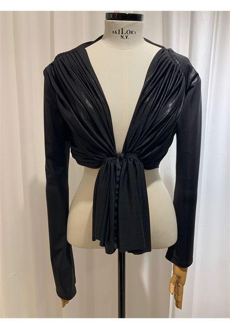 giacchina corta arricciata WEINSANTO | Top | 21ST004BLACK SHINY
