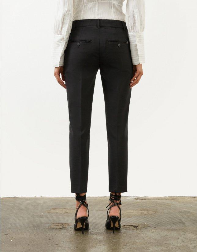 Pantalone slim perfect in tela di lana nero DONDUP | 9 | DP066TS0009D999
