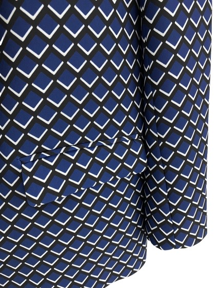 Altea giacca jilly stampa disegno geometrico blu nero Altea   3   206250901/R