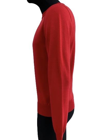 Grifoni Maglia girocollo Rossa  in lana con cuciture accoppiate Grifoni | 5032251 | GH110000/601322