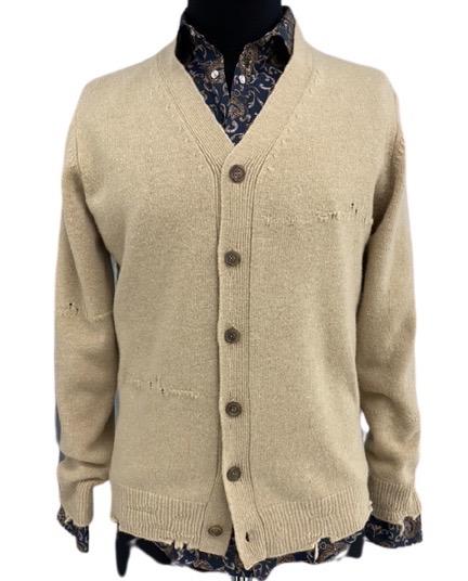 Grifoni cardigan rammendi e rotture in pura lana vergine Grifoni | 39 | GH110025/641326