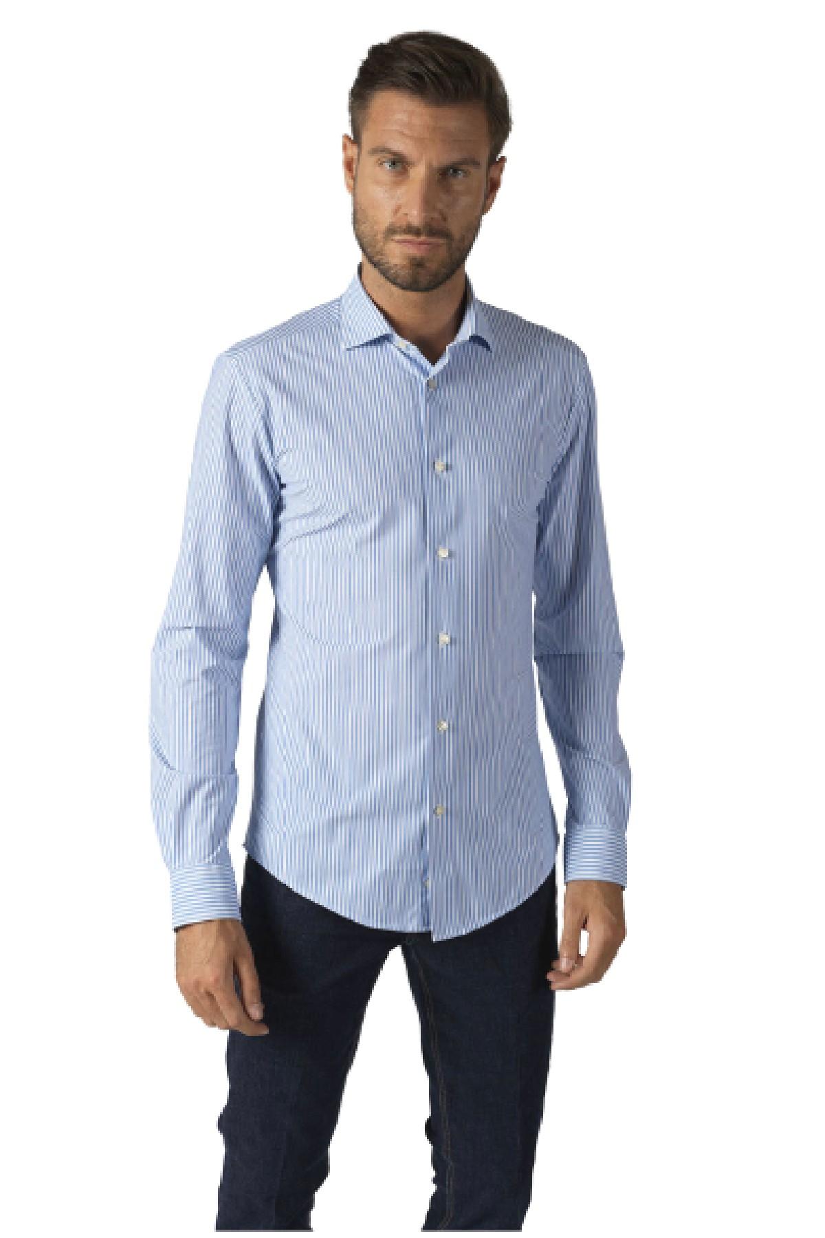 camicia a righe in jersey elasticizzato  BRIAN DALES | 6 | BS50JST8404001