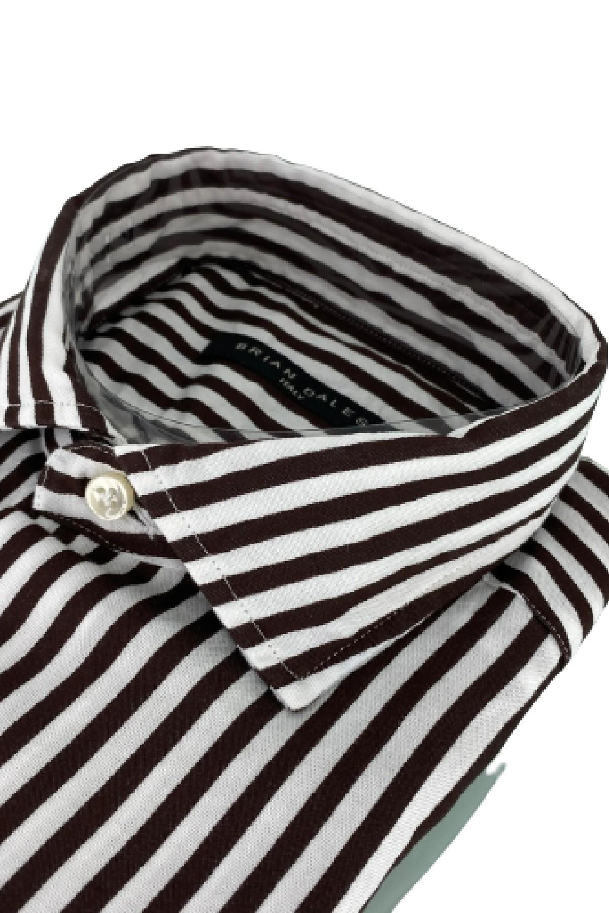 camicia riga media in cotone BRIAN DALES   6   BS50WSPST8418001