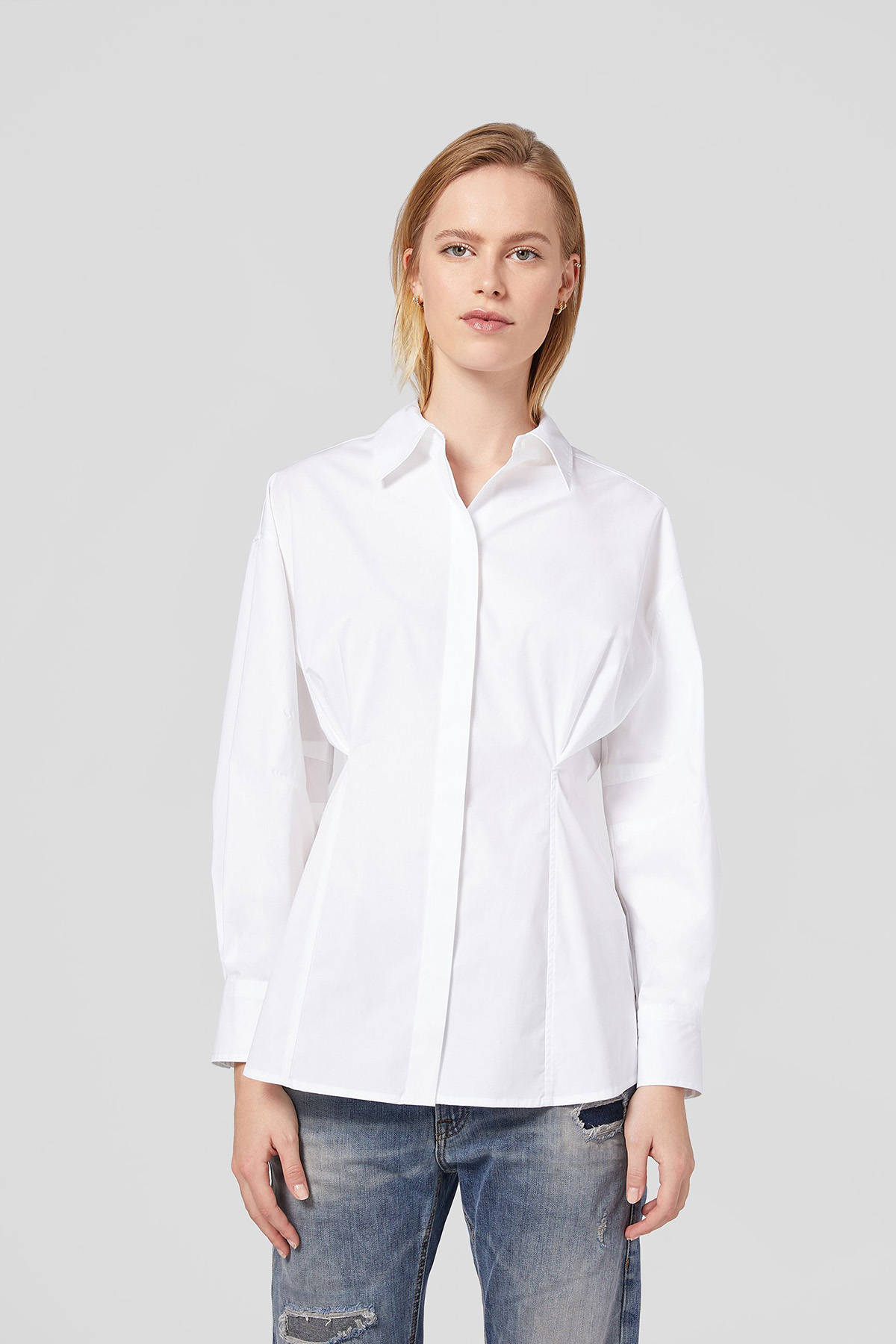 Dondup Camicia in popeline con pinces  Dondup DONDUP | 6 | DC217PS0012D000