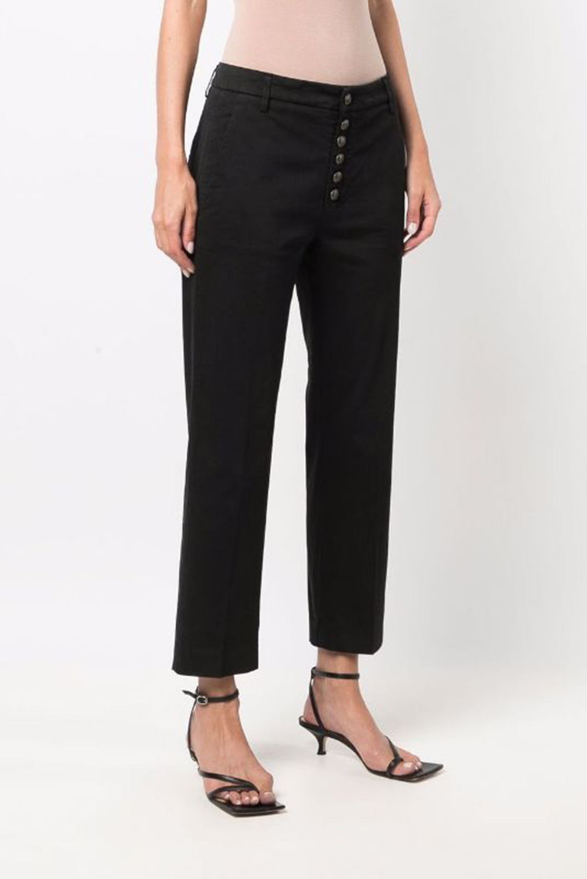 Dondup Pantalone loose Nima con bottoni gioiello DONDUP | 9 | DP576RS0041D999