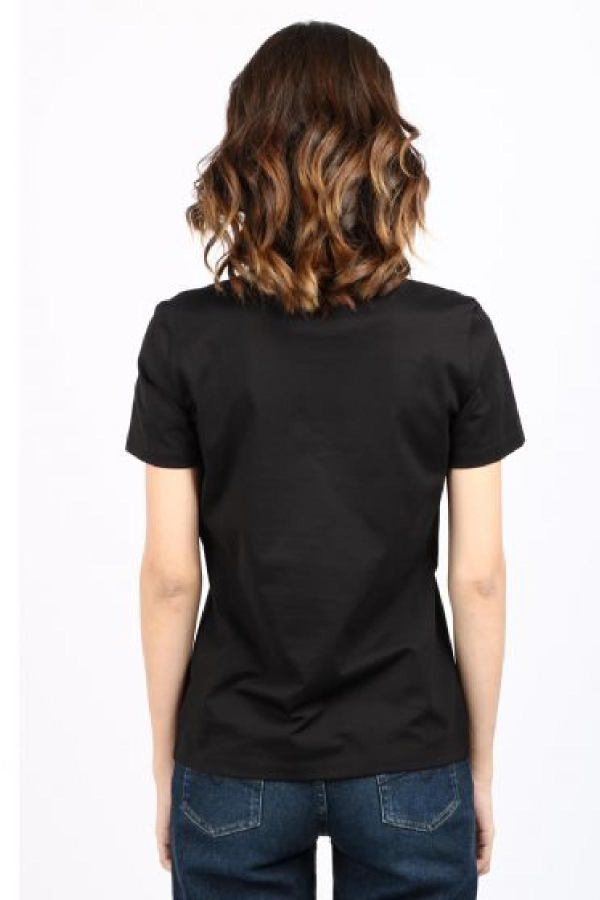 t-shirt  boxy logo corsivo DONDUP | 8 | S746JF0271DBY1999