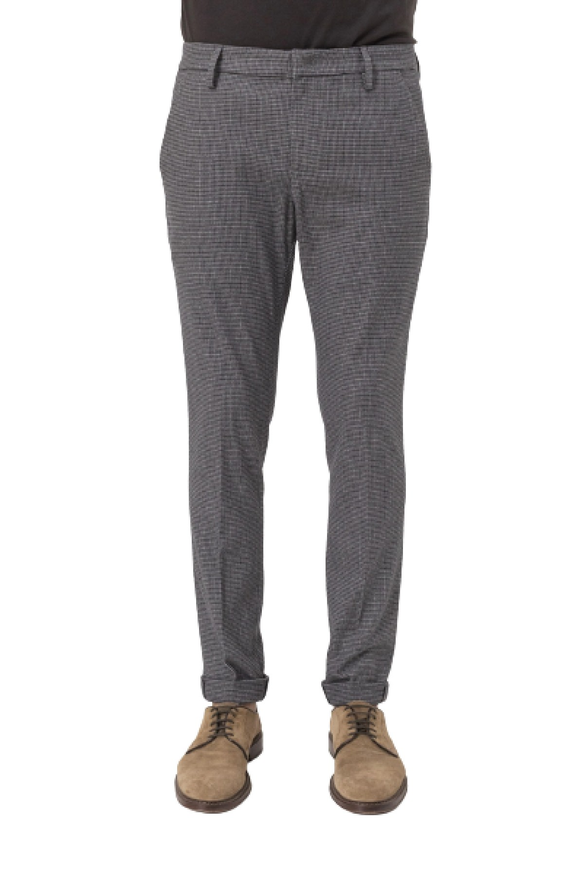 pantalone gaubert micro pied-de-poule DONDUP | 9 | UP235QS0137UBV4920