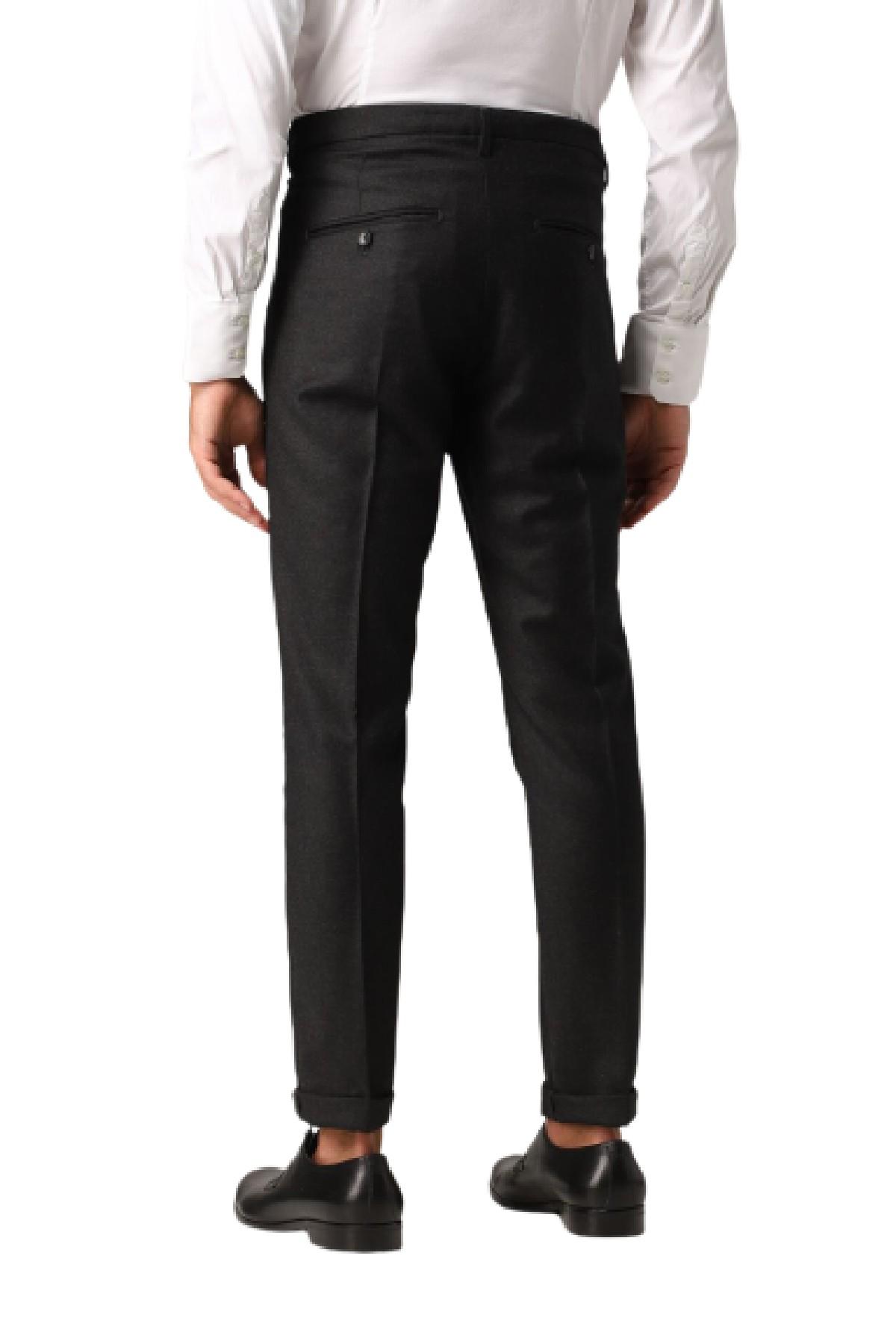 pantalone slim gaubert In lana vergine grigio scuro melange DONDUP | 9 | UP235WS0106U998