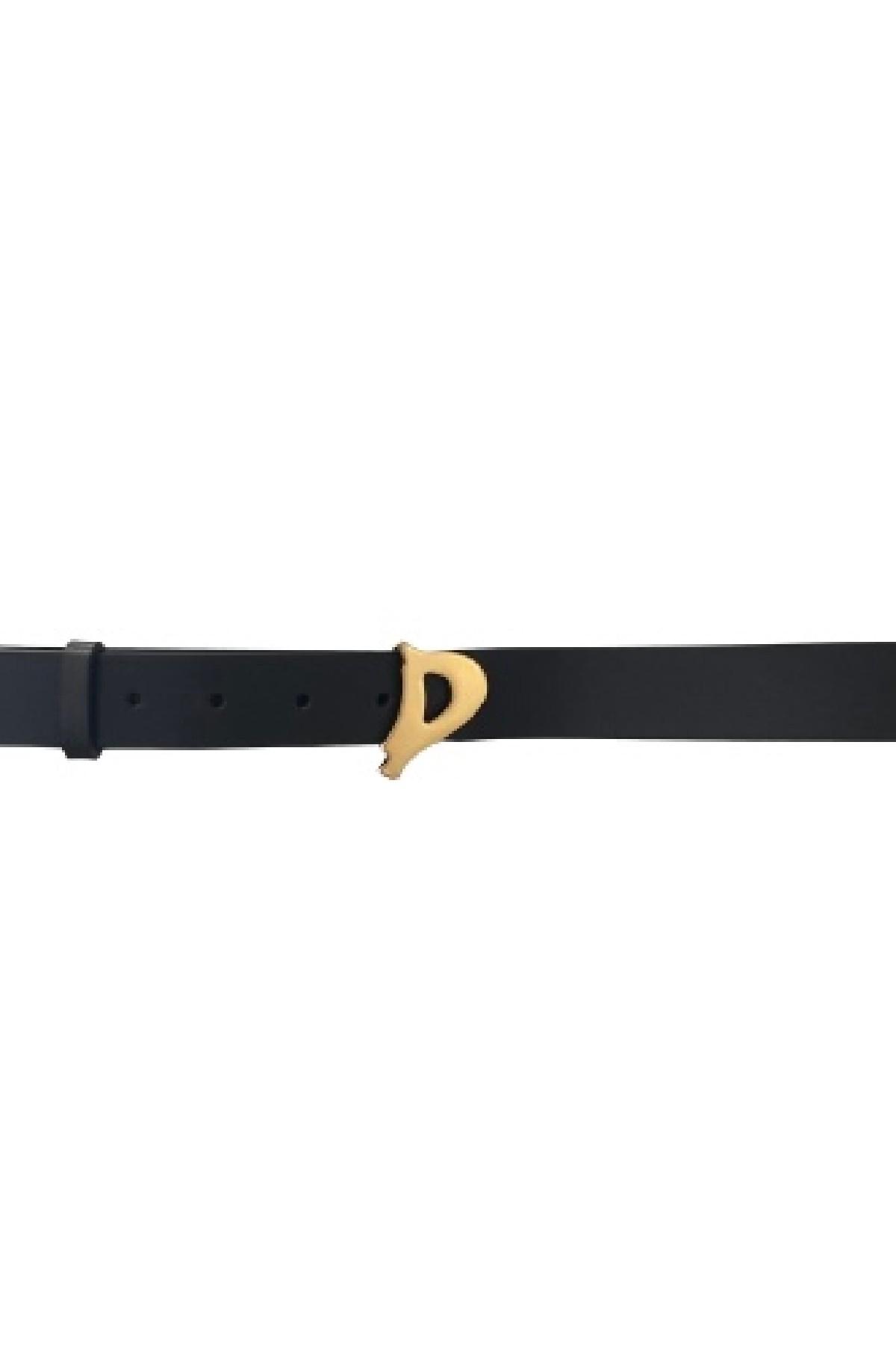 cintura  D Logo in pelle DONDUP | 22 | WC221PL0250D999