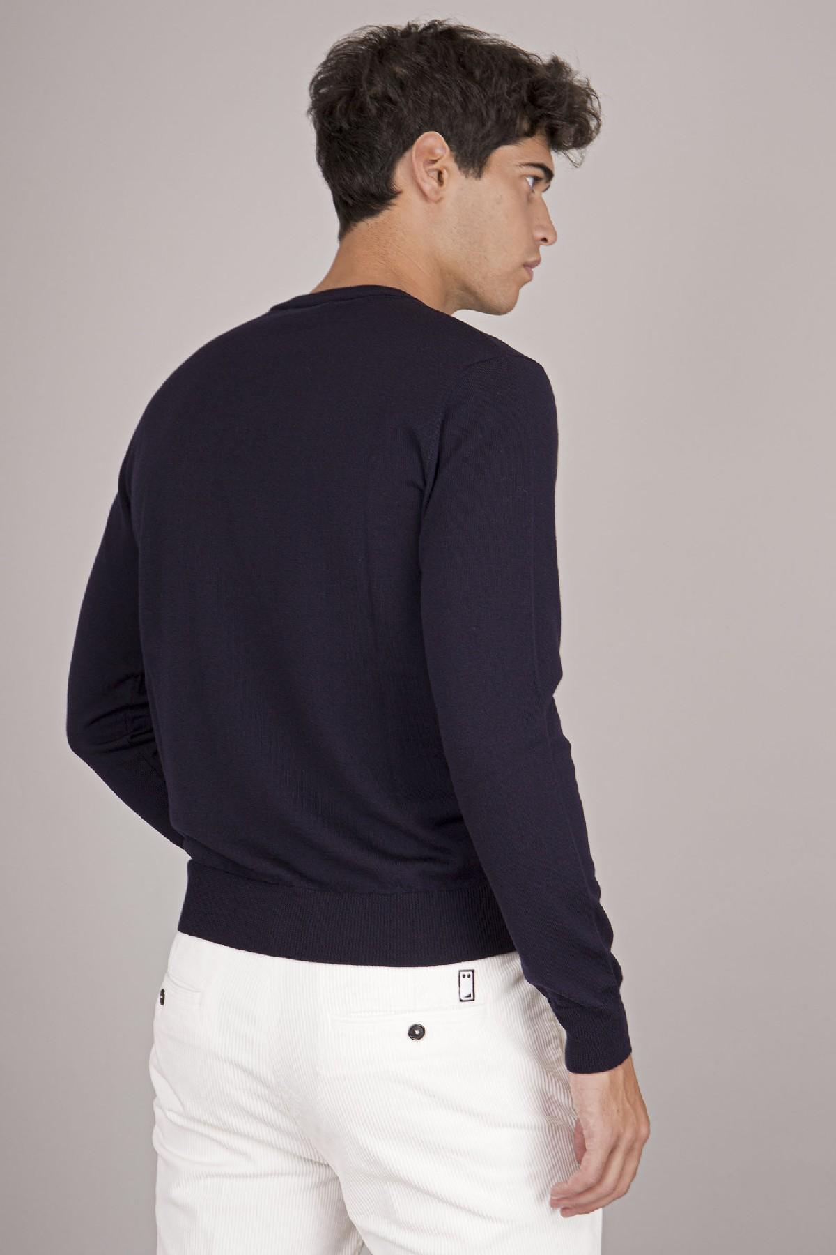 Girocollo basic in lana vergine Grifoni | 5032251 | GL110039/68008