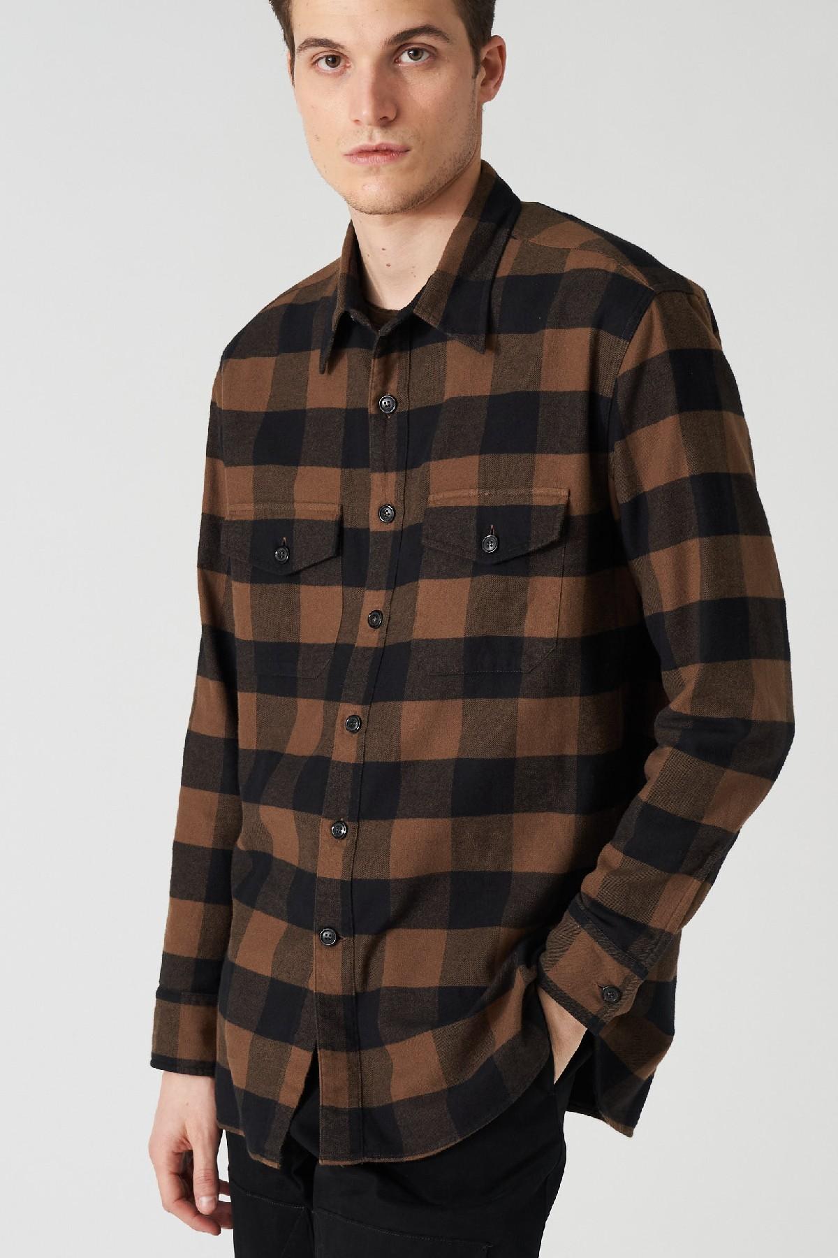 camicia  ampia check Grifoni | 6 | GL120033/9T4003