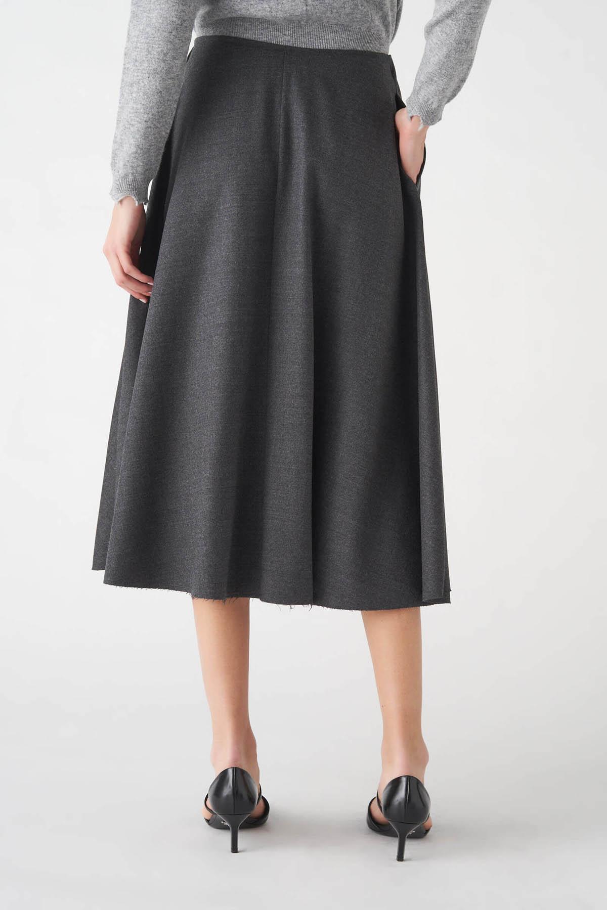 gonna in flanella di lana con elastico Grifoni   15   GL250023/15007